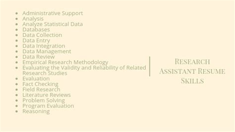 Research Assistant Resume Skills by Easiest Research Assistant Resume Guide Resumewritinglab