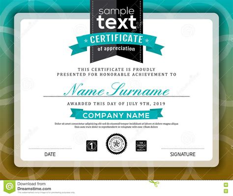 training certificate template free download simple certificate of appreciation border frame template