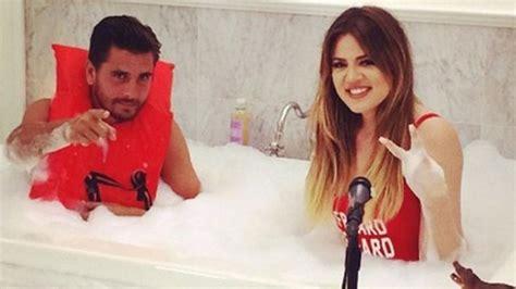 khloe kardashian bathtub this photo of khloe kardashian and scott disick in a bathtub raises so many questions
