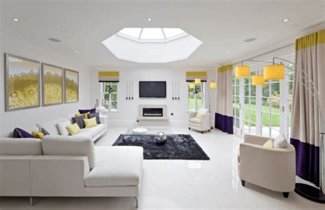 focal point homes bright living rooms with skylights that steal the show