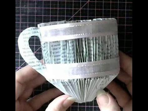 Four Cups Paper Folding - book folding book tea cup no2