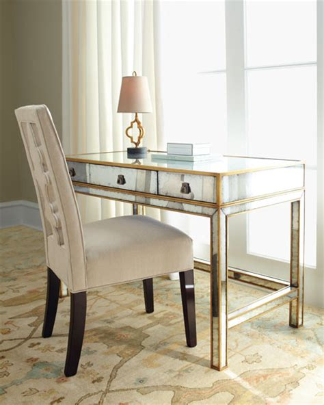 mirrored writing desk richard collection mirrored writing desk