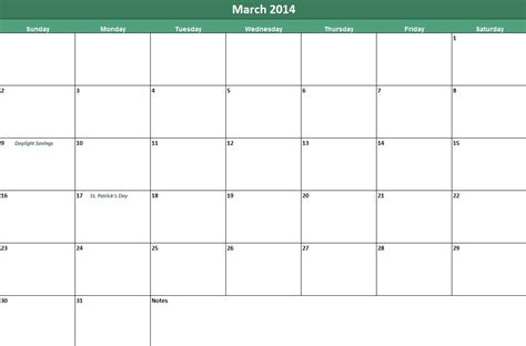 printable march 2014 calendar now available on leading