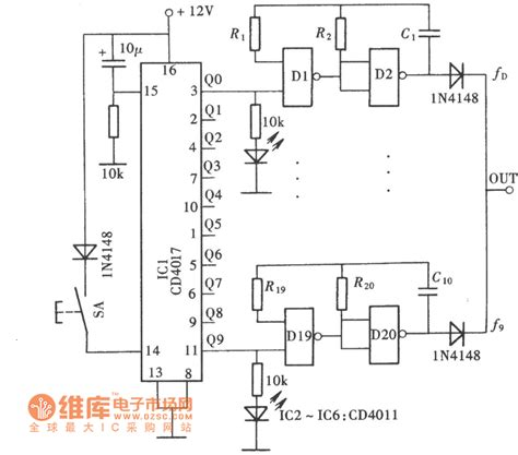 10 gear frequency signal generator circuit signal