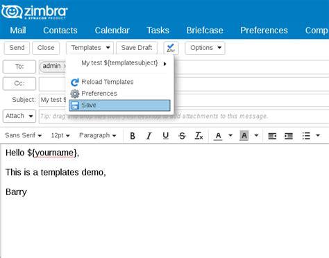 Zimbra Email Templates by Zimbra Org Zimbra Email Templates