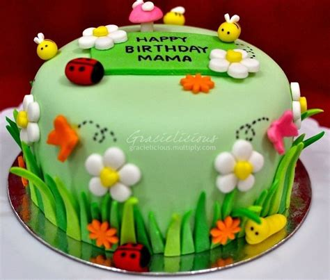 Flower Garden Cake Cake Ideas 25 Best Ideas About Birthday Cake With Flowers On Pinterest Beautiful Birthday Cakes Cake