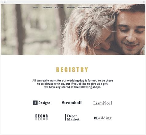 Wedding Gift Website by How To Create A Wedding Website That Wows Your Guests