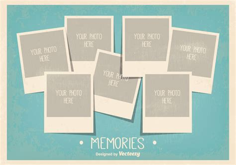 picture template vintage style photo collage template free