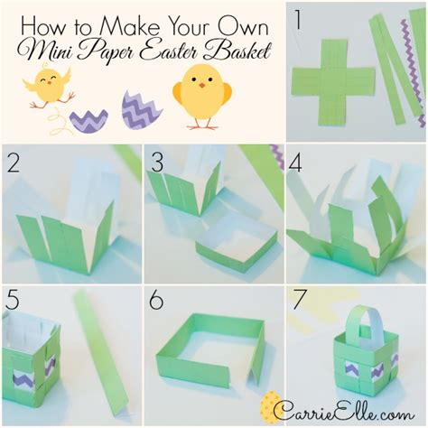 How To Make A Basket With Paper - free printable easter baskets