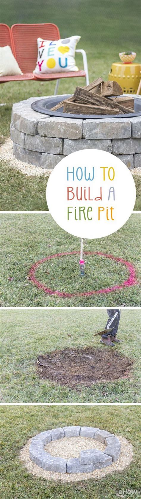 build backyard fire pit 20 diy fire pits for your backyard with tutorials