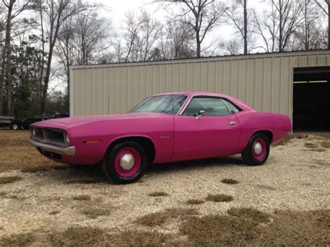 plymouth panther 1970 plymouth barracuda 198 6 3 speed fm3 panther pink 1
