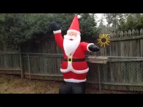 unboxing review gemmy 2005 8ft santa airblown inflatable