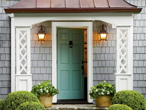 what to before painting your front door bright green southern living