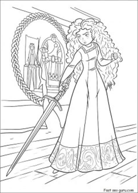 Print out Disney Characters brave coloring pages