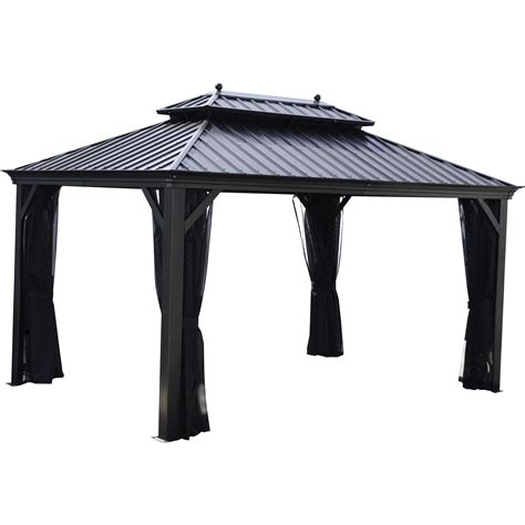 black gazebo patio gazebos 10 x 10 ft rosseau gazebo anthracite