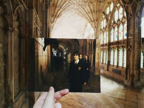 where was hogwarts filmed harry potter filming location cloisters at gloucester