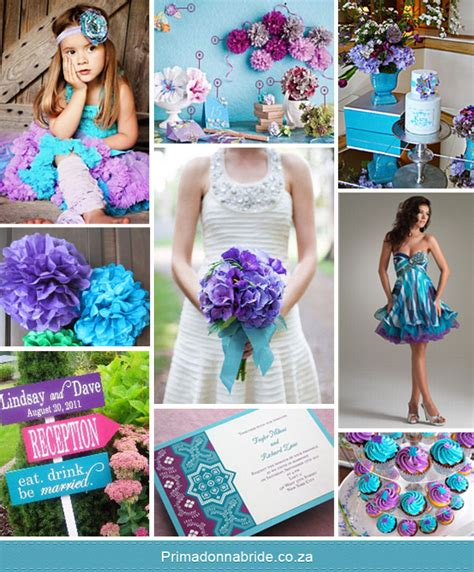 purple and turquoise wedding wedding colours aqua and purple primadonna