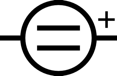 schematic symbol for a dc battery clipart best