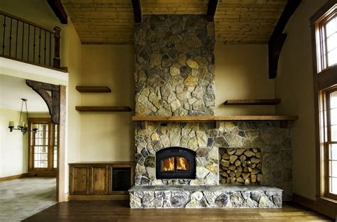 fireplace design makes a statement
