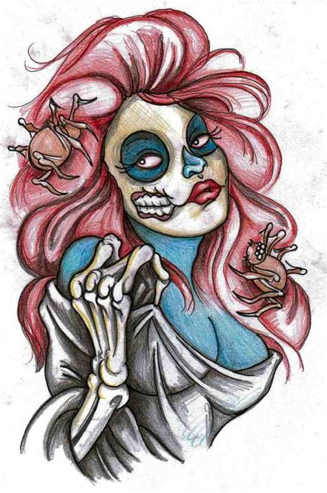 zombie pin up girl tattoos pinup by simonvalentine on deviantart