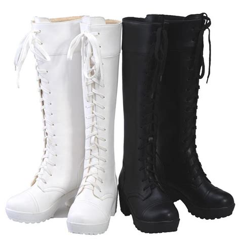 lace up knee high combat boots promotion shopping