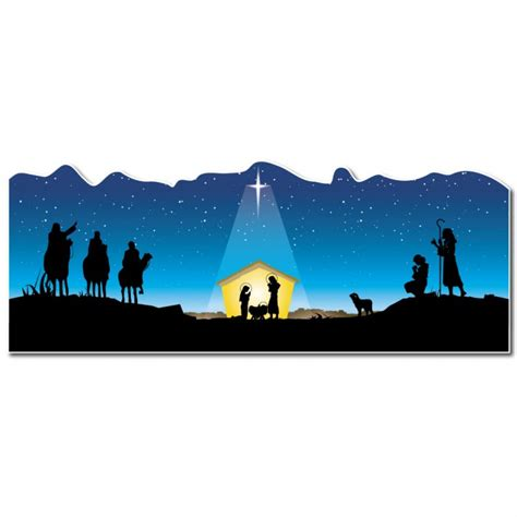 christmas nativity banner festival collections