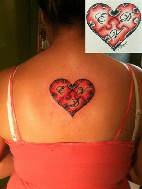 heart puzzle tattoo 40 cool puzzle design ideas hative