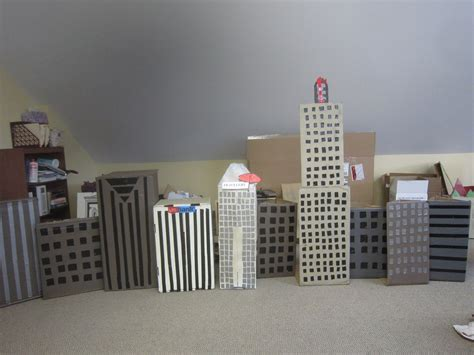 How To Make A House Out Of Construction Paper - chuck does diy fast easy cardboard city