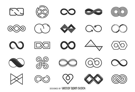 infinity symbol template infinity logo template collection vector