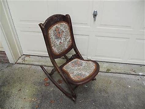 vintage wood folding chairs value antique wood rocking chair value chairs seating