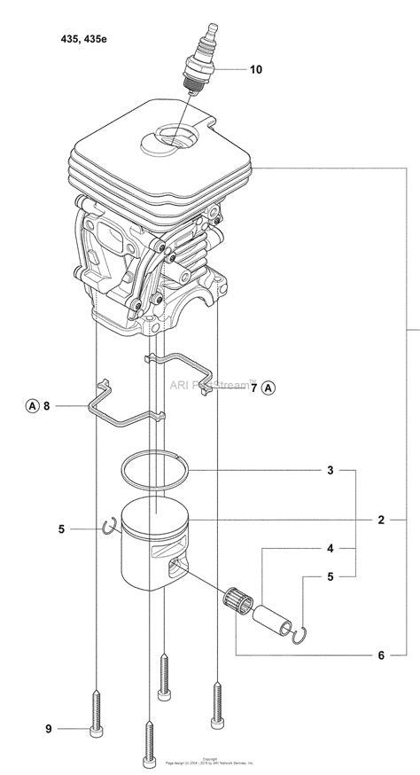 husqvarna 435 parts diagram husqvarna 435 e 2008 05 parts diagram for cylinder 435 435e