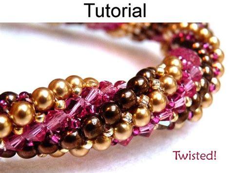 beadwork simple bracelet beading pattern herringbone stitch beaded