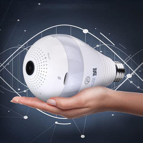 360 Degree Fisheye Hd 720p Motion Detection 360 degree panoramic 1080p ir light bulb wifi fisheye security motion detection