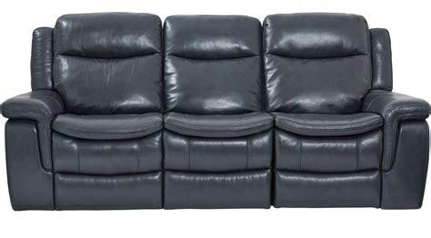 blue leather reclining sofa 1 199 99 milano blue leather power plus reclining sofa