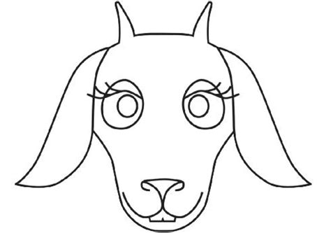 printable mask goat free coloring pages of cat goat rooster mask