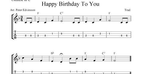 ukulele happy birthday ukulele chords happy birthday at happy birthday to you free ukulele tab sheet music