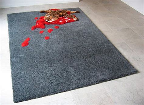 creative rugs road kill rug creative disturbing carpet design