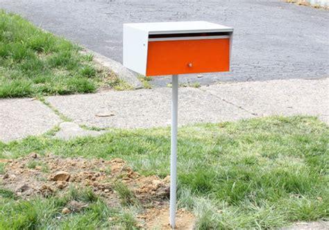 design milk mailbox installing a modern mailbox design milk