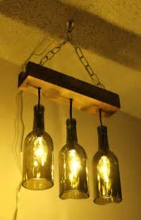 Wine Bottles Chandelier A Wine Bottle Chandelier Makes