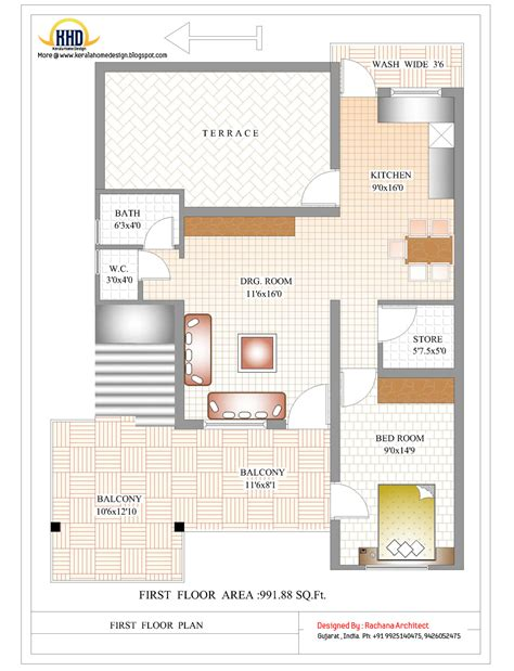 indian house floor plan contemporary india house plan 2185 sq ft kerala home design and floor plans