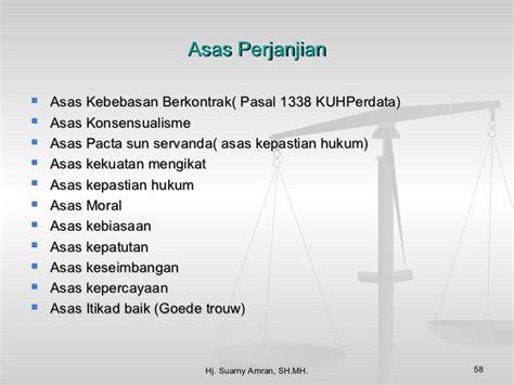 Azas Azas Hukum Perjanjian Asas Asas Hukum Perjanjian etika dan hukum dalam bisnis