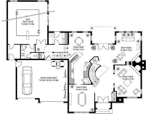 eplans new american house plan incredible indoor pool pool house plans photos