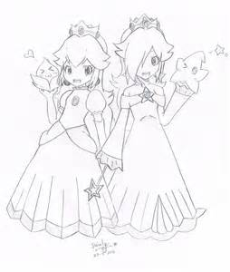 coloring pages of princess peach and daisy az sketch template