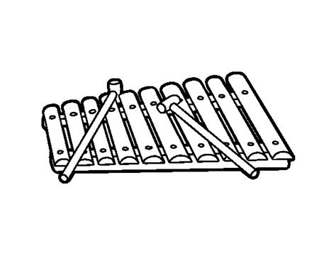 free coloring pages of xylophone a xylophone coloring page coloringcrew com