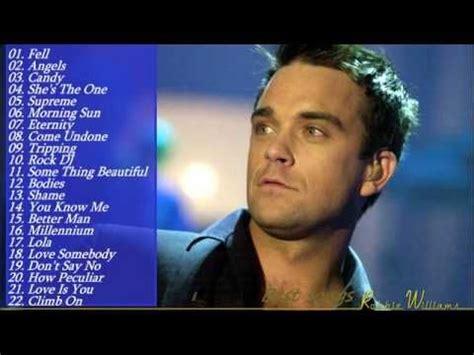 robbie williams best songs best 25 robbie williams greatest hits ideas on