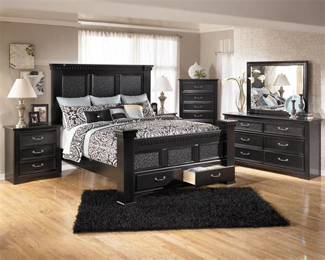 ashley furniture cavallino bedroom set  mansion poster