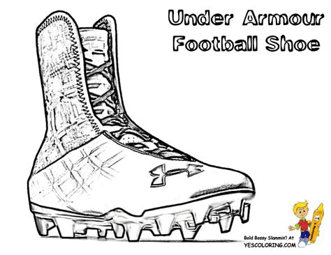 Coloring Pages Football Shoes   under armour football cleats coloring page sketch coloring