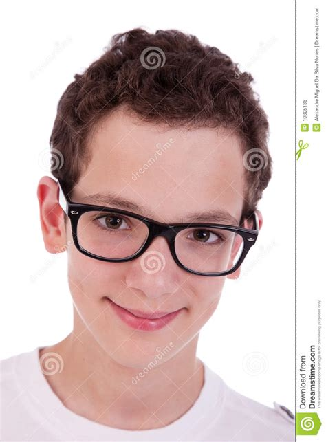 with glasses boy with glasses smiling royalty free stock photos image 19805138