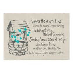 bridal shower invitation wording ideas wishing well wishing well couples shower 5x7 paper invitation card zazzle