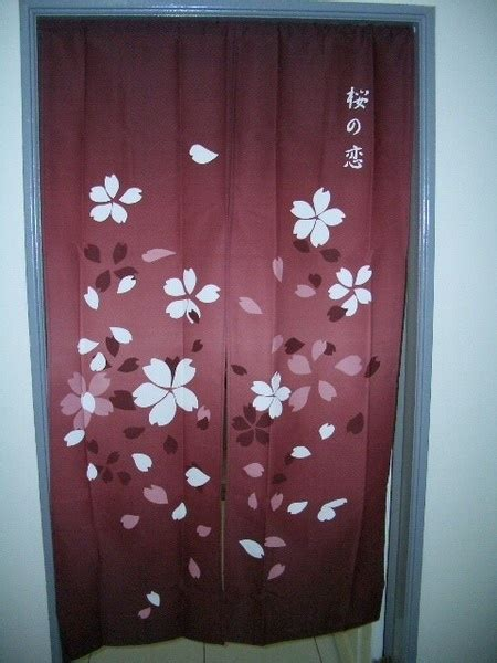 asian door curtain japanese noren tapestry door curtain sakura cherry